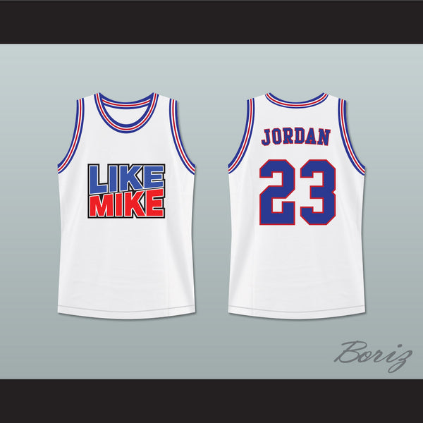 ... Michael Jordan 23 Like Mike White Mash Up Basketball Jersey -  borizcustom - 3 b4d1e6480