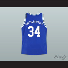 Ray Allen Jesus Shuttlesworth 34 Blue Lincoln High School Basketball Jersey He Got Game - borizcustom - 2