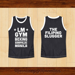 LM GYM Boxing Sampaloc Manila The Filipino Slugger Basketball Jersey New - borizcustom