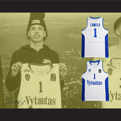 Lamelo Ball 1 Lithuania Vytautas White Basketball Jersey
