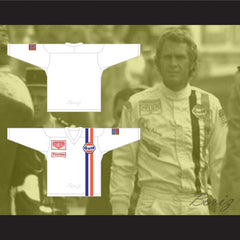 Steve McQueen Michael Delaney Le Mans Inspired Hockey Jersey Stitch Sewn New - borizcustom - 3