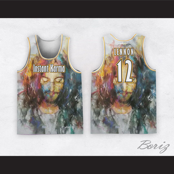 john lennon 12 instant karma painting style basketball jersey. Black Bedroom Furniture Sets. Home Design Ideas
