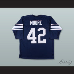 Lenny Moore 42 Penn State Nittany Lions Navy Blue Hockey Jersey