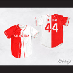 Lil Yachty Lil Boat 44 Sailing Team Red/White Dye Sublimation Baseball Jersey