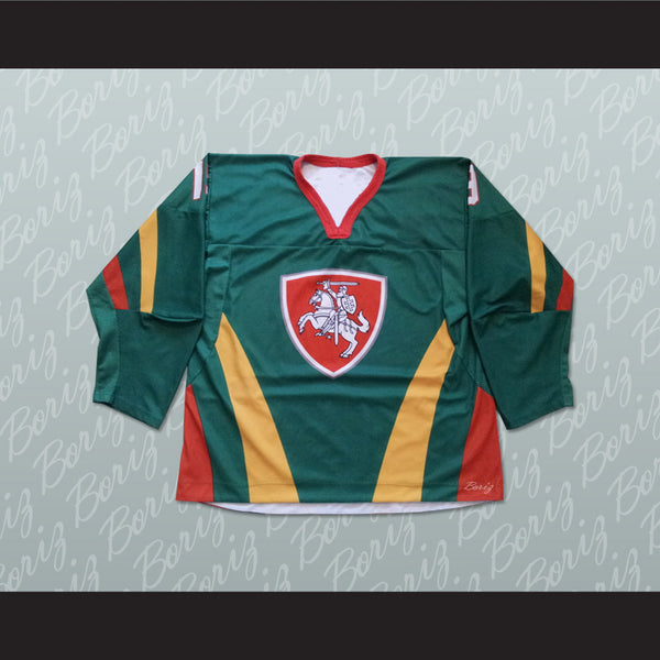 Product Image Lithuania Hockey Jersey Stitch Sewn Any Player or Number -  borizcustom ... b68fc677b0a