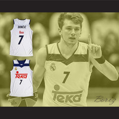 Luka Doncic 7 Real Madrid White Basketball Jersey