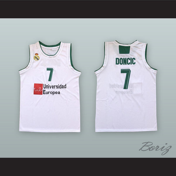 the latest 96bda 1ee1a Luka Doncic 7 Real Madrid White Basketball Jersey 3