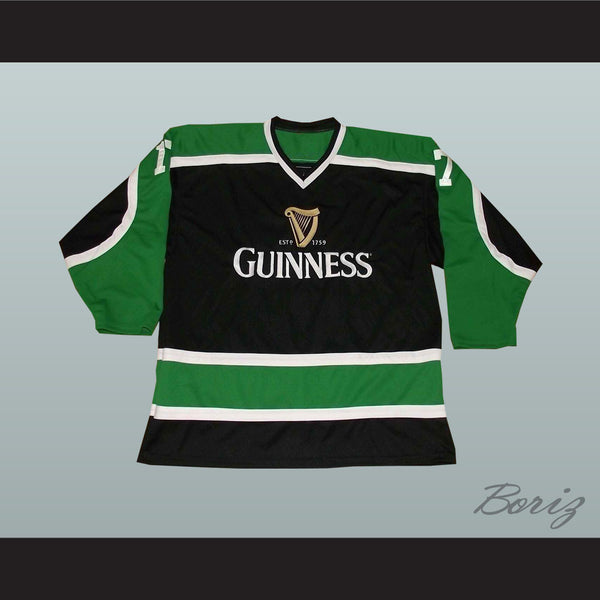 Irish Stout Beer Hockey Jersey March 17 St. Patrick's Day - borizcustom