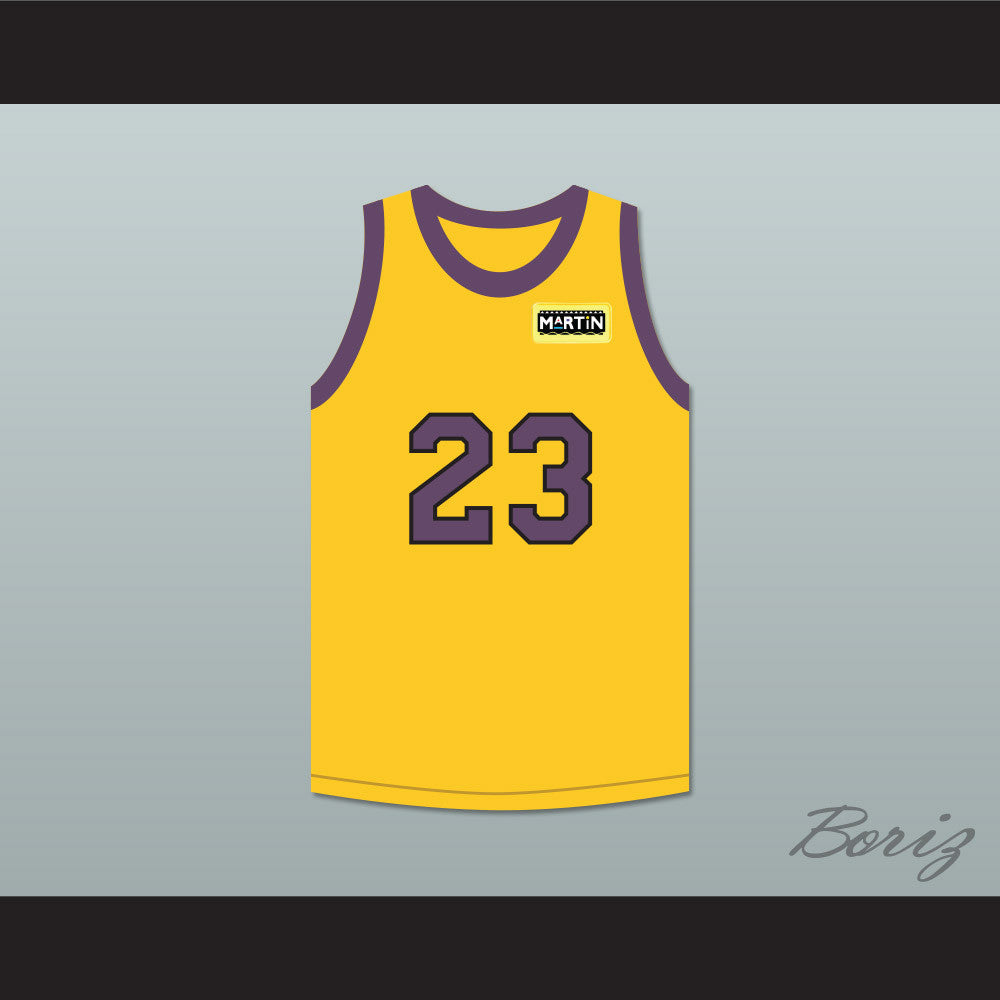 d09f0714893 Martin Payne 23 Yellow Basketball Jersey with Martin Patch