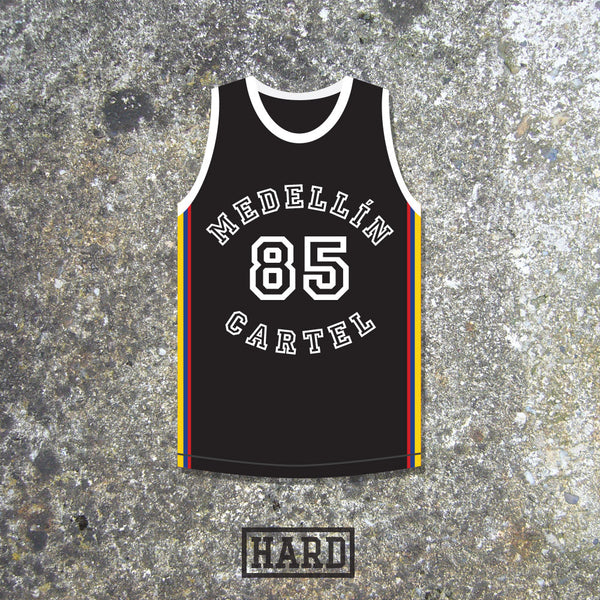 Pablo Escobar 85 Medellín Cartel Colombia Basketball Jersey by HARD - borizcustom - 1
