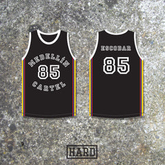 Pablo Escobar 85 Medellín Cartel Colombia Basketball Jersey by HARD - borizcustom - 2