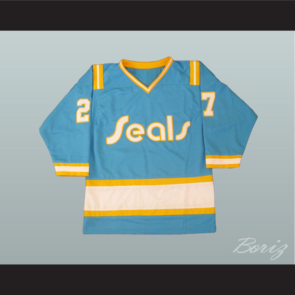 Hockey Legend Gilles Meloche 27 Hockey Jersey California Golden Seals - borizcustom - 1