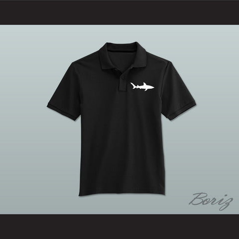 Coaching Staff Miami Sharks Black Polo Shirt Any Given Sunday - borizcustom