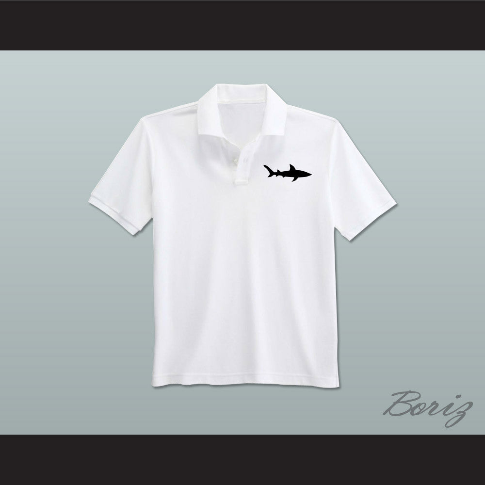 Coaching staff miami sharks white polo shirt for Embroidered polo shirts miami