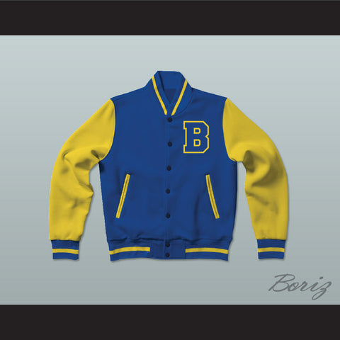 Michael J. Fox Scott Howard Beacon Hills Beavers Varsity Letterman Jacket-Style Sweatshirt Teen Wolf - borizcustom - 1