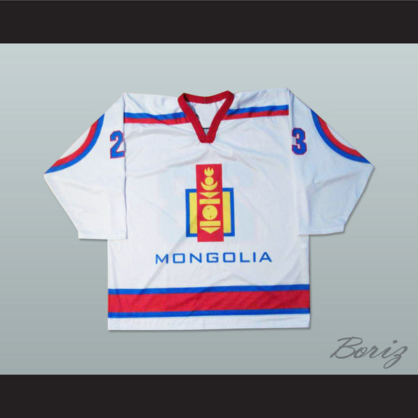Mongolia National Team White Hockey Jersey Any Player or Number - borizcustom