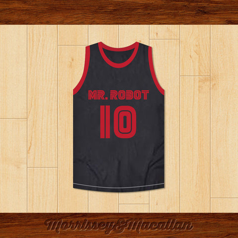 Elliot Alderson 10 Mr. Robot Basketball Jersey by Morrissey&Macallan - borizcustom