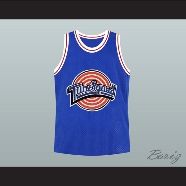 Bill Murray 22 Space Jam Tune Squad Blue Basketball Jersey Stitch Sewn New - borizcustom