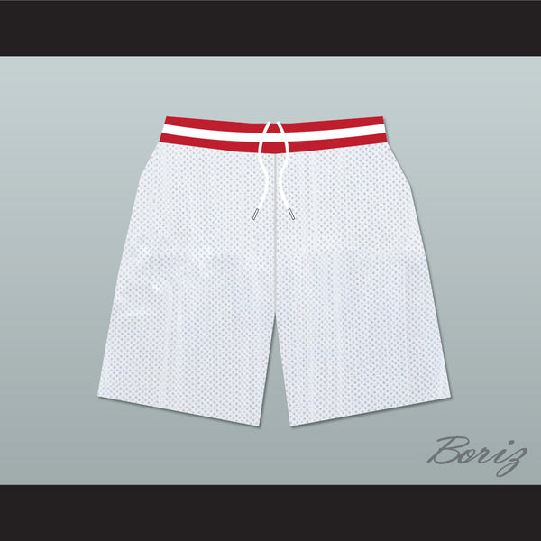 Family Matters Vanderbilt Muskrats High School White Basketball Shorts - borizcustom