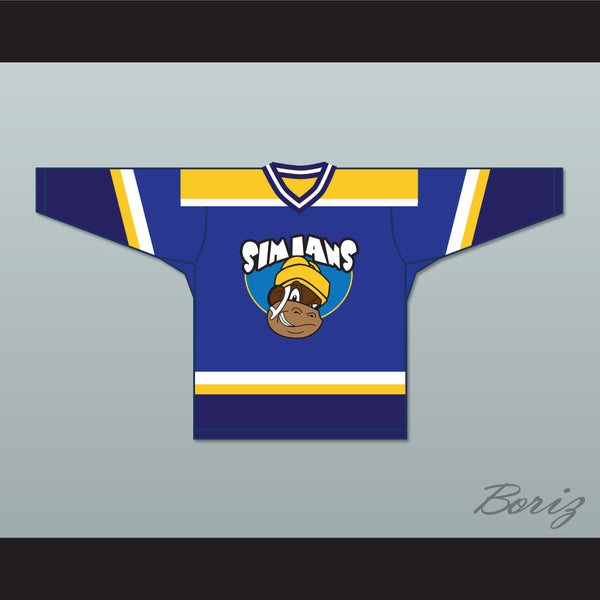 Rob Poirier 11 Seattle Simians Hockey Jersey MVP: Most Vertical Primate