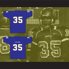 Chavis Daniels 35 Manassas Tigers High School Blue Football Jersey Undefeated