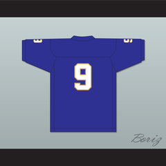 Omar Williams 9 Manassas Tigers High School Blue Football Jersey Undefeated