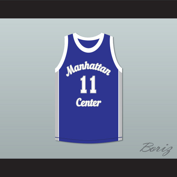 Cameron Giles 11 Manhattan Center Rams Blue Basketball Jersey