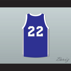 Rapper Mase 22 Manhattan Center Rams Blue Basketball Jersey