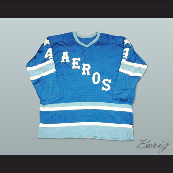 Mark Howe 4 WHA Houston Aeros Hockey Jersey Stitch Sewn All Sizes New - borizcustom
