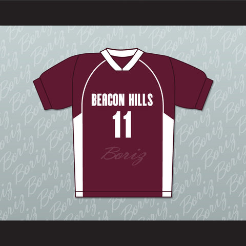 Scott McCall 11 Beacon Hills Cyclones Lacrosse Jersey Teen Wolf TV Series New - borizcustom - 1