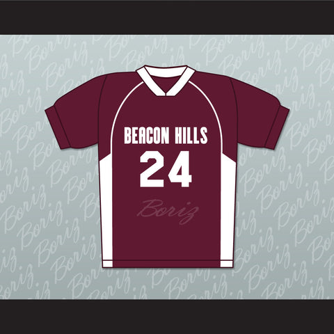 Stiles Stilinski 24 Beacon Hills Cyclones Lacrosse Jersey Teen Wolf TV Series New - borizcustom - 1