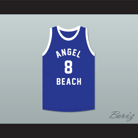 'Meat' Tuperello 8 Angel Beach Gators Blue Basketball Jersey Porky's Revenge