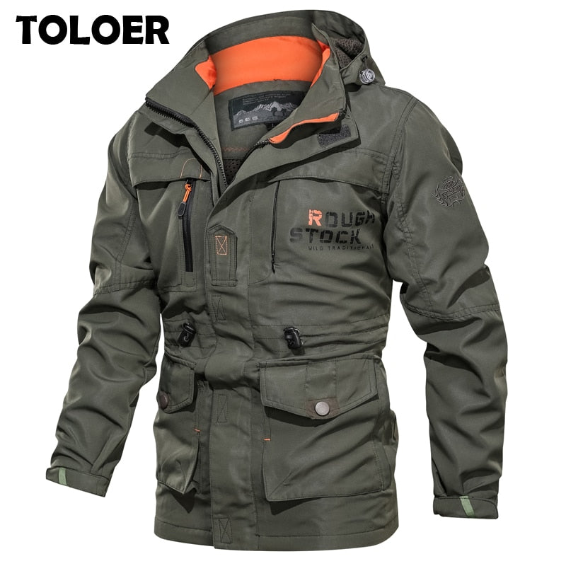 Winter Military Bomber Jackets Coats for Men Amry Green M