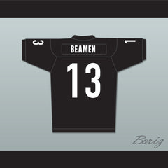 Jamie Foxx Willie Beamen 13 Miami Sharks Football Jersey Any Given Sunday Includes AFFA Patch - borizcustom