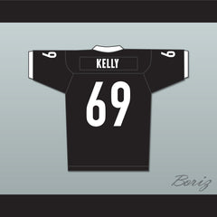 Patrick 'Madman' Kelly 69 Miami Sharks White Trim Football Jersey Any Given Sunday Includes AFFA Patch - borizcustom - 2
