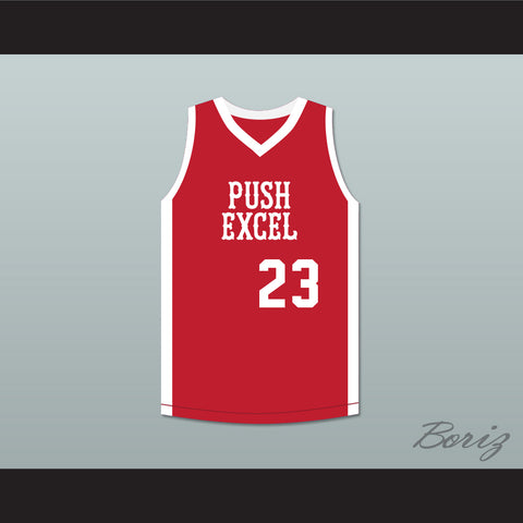 Michael Jordan 23 Push Excel Pro Basketball Classic Red Basketball Jersey 1985 Charity Event