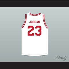 Michael Jordan 23 Push Excel Pro Basketball Classic White Basketball Jersey 1988 Charity Event