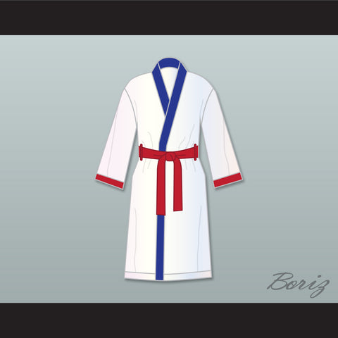 'Irish' Micky Ward White Satin Full Boxing Robe