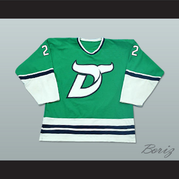 Mike Vallely 22 Danbury Whalers Green Hockey Jersey