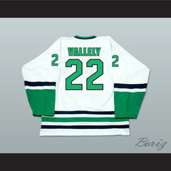 Mike Vallely 22 Danbury Whalers White Hockey Jersey