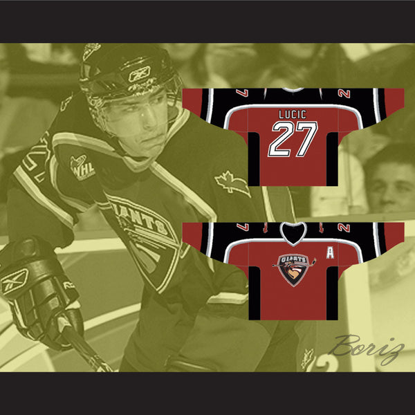 save off 80655 3ee82 Milan Lucic Vancouver Giants Hockey Jersey Any Name or Number New
