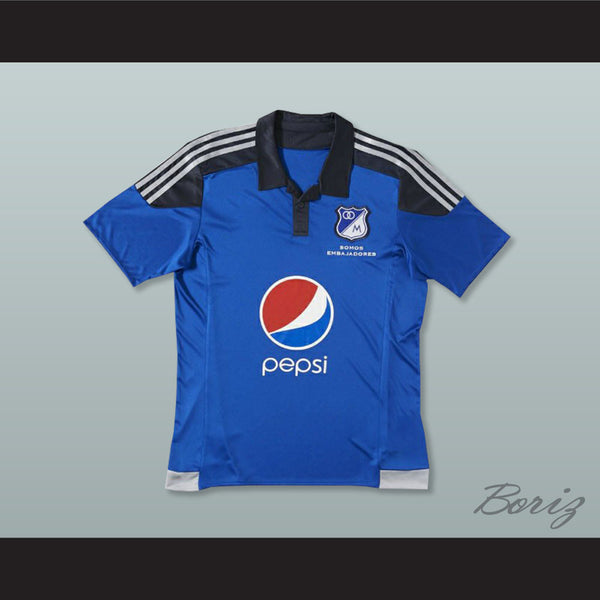 new styles ac0b2 70b94 Millonarios FC Colom Football Soccer Shirt Jersey