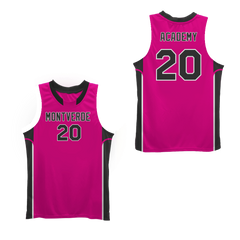 #20 MT Academy Eagles Black Basketball Jersey Colors