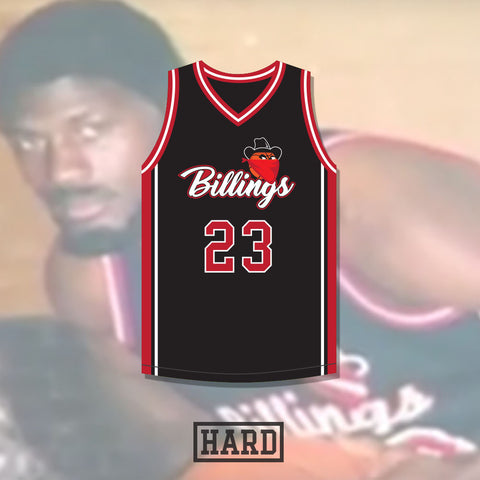 Motorboat Jones 23 Billings Bandits Basketball Jersey by HARD