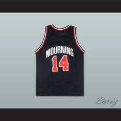 Alonzo Mourning 14 USA Team Away Basketball Jersey - borizcustom - 2