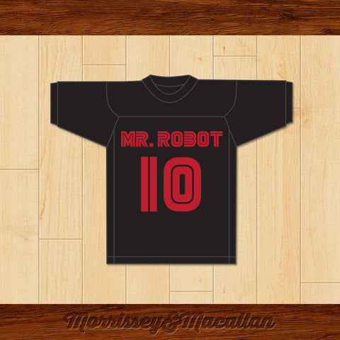 Elliot Alderson 10 Mr. Robot Football Jersey by Morrissey&Macallan - borizcustom