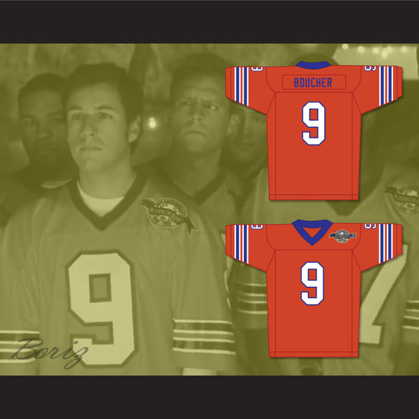 ... Bobby Boucher 9 Mud Dogs Home Football Jersey with Bourbon Bowl Patch -  borizcustom ... 03896331e27f