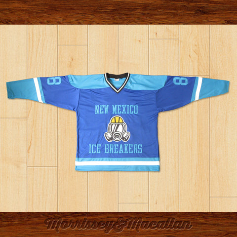 Walter White Heisenberg 88 New Mexico Ice Breakers Away Hockey Jersey by Morrissey&Macallan - borizcustom - 1