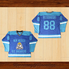 Walter White Heisenberg 88 New Mexico Ice Breakers Away Hockey Jersey by Morrissey&Macallan - borizcustom - 3