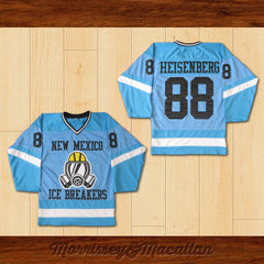Walter White Heisenberg 88 New Mexico Ice Breakers Home Hockey Jersey by Morrissey&Macallan - borizcustom - 3